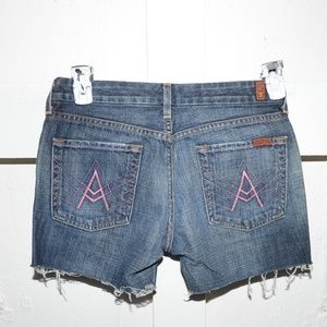 7 for all mankind womens cut off shorts si…